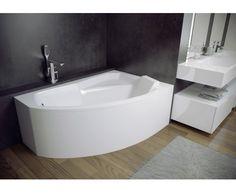Asymetrická rohová vana RIMA 130 x 85 cm Small Corner Bath, Corner Bathtub, Narrow Bathroom, Upstairs Bathrooms, Space Saver Bath, Granite Kitchen Sinks, Bathroom Layout, Home Decor Furniture, Angles