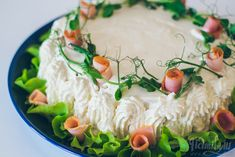 Helmihytti: Parin hengen pieni kinkkuvoileipäkakku Appetizer Recipes, Appetizers, Savory Pastry, Hummus, Baking Recipes, Food And Drink, Ethnic Recipes, Foods, Cakes