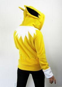Evolution Electric Handmade Anti-Pill Fleece by RaritysBoutique Pokemon Trainer Costume, Pokemon Costumes, Nerd Fashion, Punk Fashion, Nerdy Shirts, Nerd Outfits, Cute Dragons, Fleece Hoodie, Hoodies