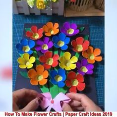 Mothers Day Crafts For Kids Toddlers Diy Crafts Hacks, Diy Crafts For Gifts, Diy Arts And Crafts, Craft Stick Crafts, Creative Crafts, Preschool Crafts, Creative Ideas, Paper Flowers Craft, Paper Crafts Origami