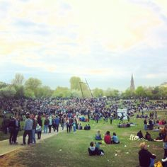 Berlin on 1st of May is something awesome! This is Gorlitzer Park.