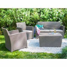 Paname Salon de jardin en acacia (4 places) | _terrasse canapé ...