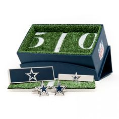 Dallas Cowboys Gift Set: Cuff links, money clip, and tie bar from cufflinks.