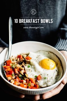 10 Breakfast Bowls to Make for a Better Morning #theeverygirl | healthy recipe ideas @xhealthyrecipex |