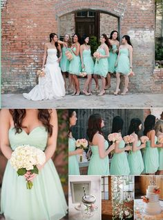 mint green bridesmaid dresses, knee length bridesmaid dresses, sweetheart bridesmaid dresses, simple bridesmaid dresses @dresstell