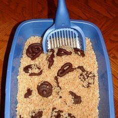 Cat Poop Fudge in Rice Krispie Kitty Litter