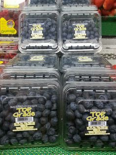 Fresh, organic blueberries at Wolfe's Market in Claremont.