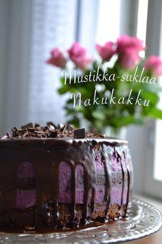 Sofialovescake: Gluteeniton mustikka-suklaa nakukakku