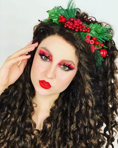 Dark Brown Long Curly Synthetic Lace Front Wig - All Synthetic Wigs Synthetic Lace Front Wigs, Synthetic Wigs, Christmas Makeup, Long Curly, Wig Hairstyles, Dark Brown, Model, Color, Beautiful