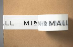Custom tape - New Logo and Brand Identity for Mi&Mall by Atipo BP&O – Custom tape Collateral Design, Stationery Design, Identity Design, Brand Identity, Invoice Design, Mall Design, Box Design, Design Ideas, Design Trends