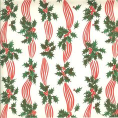Vintage Christmas wrapping paper. #ChristmasWrappingPaper