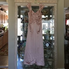 Pale pink gown This pale pink full length gown was worn once. It has two super minor stains in the back so would require dry cleaning (see photo) JS Collections Dresses Maxi