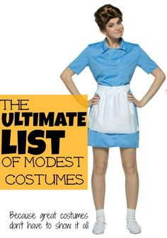 Short-skirted zombies and scantily-clad woodland creatures? While sexy Halloween costumes abound, some people prefer attire that's a little less revealing. Exchange sensual for clever this season and pick out a Halloween costume that'll turn heads for all the right reasons. A fantastic costume doesn't need to show it all, and eBay has a slew of get-ups that'll be stylish and witty yet modest and becoming.