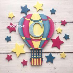 Детская ручной работы. Заказать Воздушный шар с буквой. Decozone.Мастерская декора. Ярмарка Мастеров. Декор для интерьера, буквы для интерьера