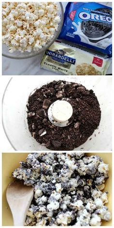 Oreo Popcorn. This looks delicious and easy to make.