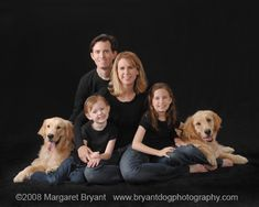 family portrait ideas | family portrait with pets a classic family portrait in the