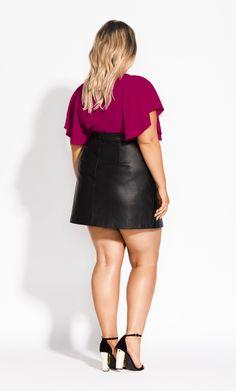 Curvy Women Fashion, Womens Fashion, Leather Skirt, Plus Size, Skirts, Leather Skirts, Women's Fashion, Skirt