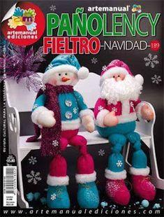 Pattern for Santa & friend. Needs translating Christmas Love, Christmas Humor, Winter Christmas, Felt Crafts Patterns, Christmas Crafts, Christmas Decorations, Felt Snowman, Sewing Toys, Diy Weihnachten