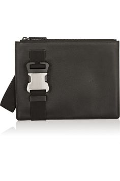 Christopher Kane | Safety Buckle textured-leather clutch | NET-A-PORTER.COM