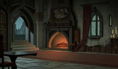 I posted some of these images earlier because the movie was supposed to be released but never was so I had to take them down. It is sti. Background Drawing, Cartoon Background, Animation Background, Environment Painting, Environment Concept Art, Environment Design, Fantasy Forest, Fantasy Castle, Medieval Fantasy