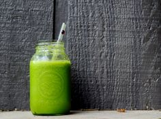 Green Smoothie for Breakfast. The recipe actually looks really good!