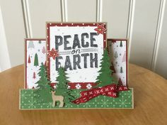 Christmas card kit - center step - Peace on Earth - md w/ Stampin Up product | Crafts, Scrapbooking & Paper Crafts, Scrapbooking & Card Kits | eBay!