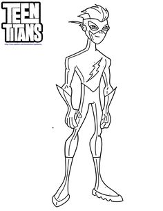 Teen Titans Kid Flash Coloring Pages