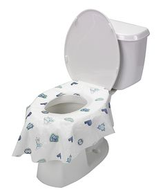 Loving this Potty Shield White & Blue Disposable Toilet Seat Covers - Set of 20 on #zulily! #zulilyfinds