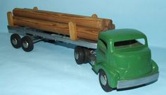 SCARCE SMITH MILLER SMITTY GMC LOG TIMBER TOY TRUCK