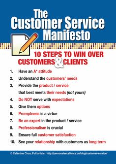 excellent customer service ideas