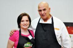 Magda, autorka bloga http://kulinarnapiniata.pl, wraz z Giancarlo Russo prowadzącym warsztaty.