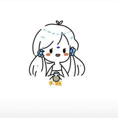 Cute Little Drawings, Mini Drawings, Cute Easy Drawings, Kawaii Drawings, Cute Art Styles, Cartoon Art Styles, Cute Profile Pictures, Cute Pictures, Anime Chibi