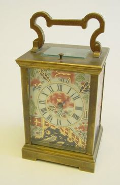 Porcelain carriage clock with Imari