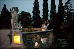 Setting is magic: bride and groom relaxing at the end of the day