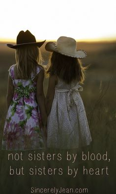 Friendship Quote: Not sisters by blood, but sisters by heart #Friendship #friends #friend #quote #bestfriends