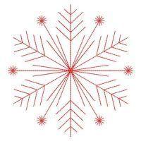 Redwork Snowflakes 2