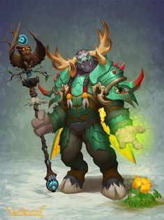 Tauren Druid by VanHarmontt on DeviantArt Druida Wow, Game Character Design, Character Art, Fantasy Inspiration, Character Inspiration, World Of Warcraft Characters, Warcraft Art, Heroes Of The Storm, Beyblade Characters