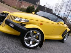 2000 Plymouth Prowler, 2002 Chrysler Prowler 2 Dr STD Convertible picture, exterior - Yellow Car