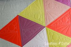 Quilting Anna Graham's Up and Down quilt for her new book Handmade Style // Sometimes Crafter