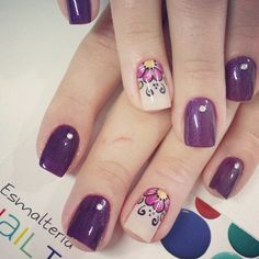 Mc Nails, Nails Now, Funky Nails, Cute Nails, Pretty Nails, Nail Time, Girls Nails, Purple Nails, Toe Nail Art