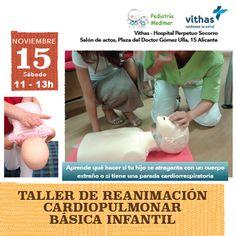 Te invitamos a asistir el sábado 15 de noviembre a este interesante taller práctico en el que te enseñaremos como reanimar a cualquier persona y especialmente a niños y lactantes.