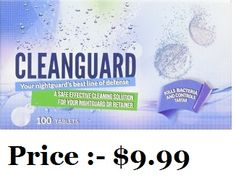 Order a professionally anti-bacterial cleanser product for your Mouth Guard. If you want to clean your night guard and dental appliances, 100 Tablet CleanGuard is the best option. Visit our Amazon store to buy the product at just $9.99.