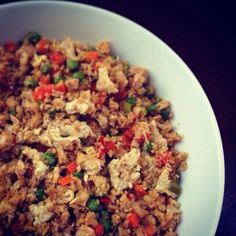 """Delicious Yet Nutritious - Cauliflower """"fried rice"""""""