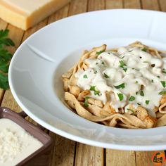 Pasta Vegetarianas, Pasta Facil, Salsa Alfredo Receta, Comidas Fitness, Light Pasta, Risotto, Macaroni And Cheese, Low Carb, Ethnic Recipes