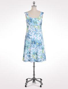 Misses | Dresses | Short Dresses | Floral Empire Waist Dress | dressbarn