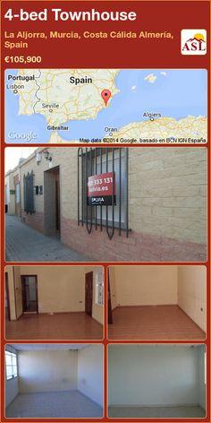 4-bed Townhouse in La Aljorra, Murcia, Costa Cálida Almería, Spain ►€105,900 #PropertyForSaleInSpain