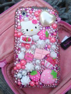 Hello Kitty, lindo, adorable Hello Kitty teléfono caso