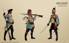 'Assassin's Creed 3: Liberation' Soldiers part 1 by Mitkov.deviantart.com on @deviantART
