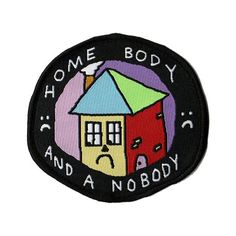 'Home Body' - iron-on patch