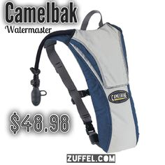 Looking for a Christmas gift for him? Get it at http://zuffel.com/collections/hydration-packs/products/camelbak-watermaster-70oz-blue-grey fitness exercise biking bike cycling camelbak hydration hydration pack pack bag backpack hiking trails hiking trips hiking adventures run runner running marathon marathon training marathon trek trails outdoors track bikes zuffel gifts for him